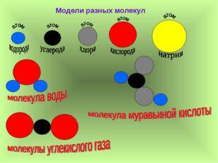 Модели разных молекул