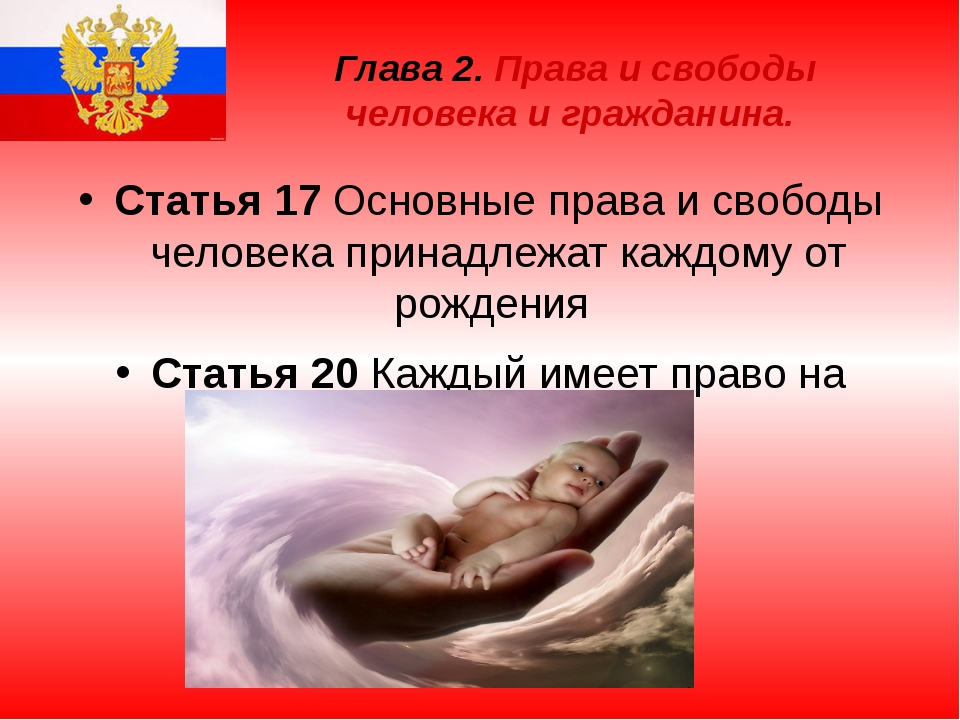 Глава 2. Права и свободы человека и гражданина. Статья 17 Основные права и св...