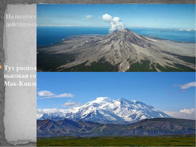 На полуострове есть действующие вулканы Тут расположена самая высокая гора СШ...