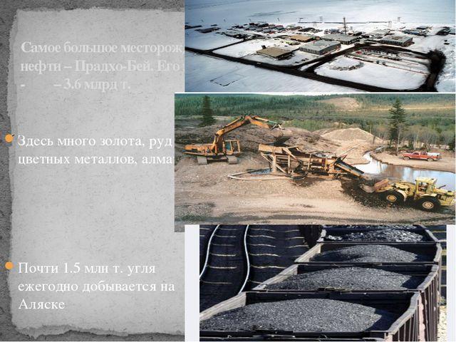 Самое большое месторождение нефти – Прадхо-Бей. Его запасы - – 3.6 млрд т. Зд...