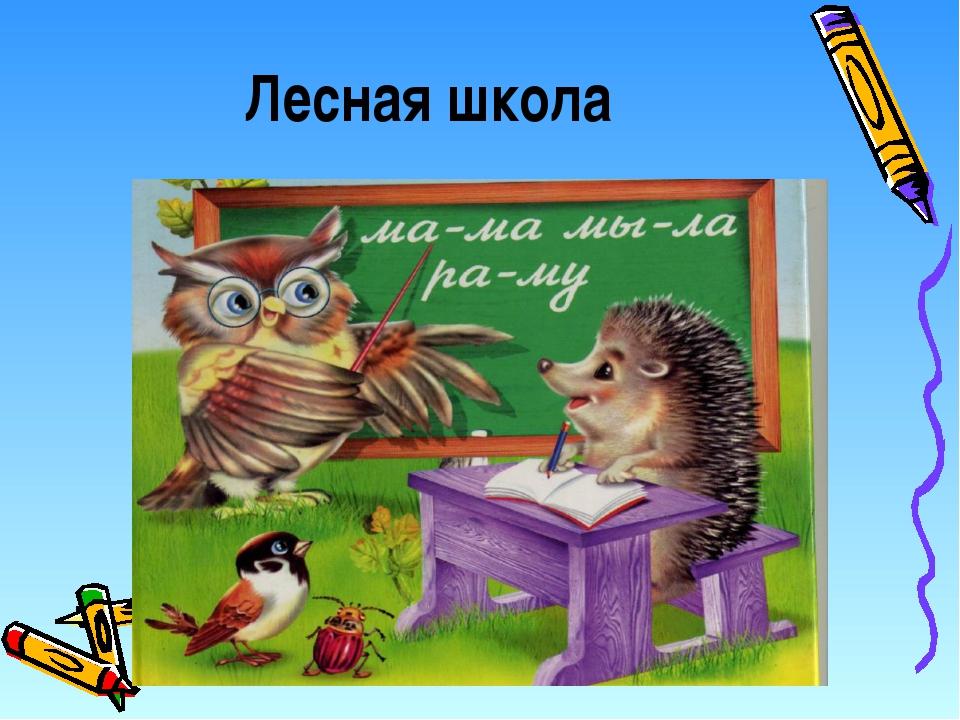 Картинка лесная школа для зверят