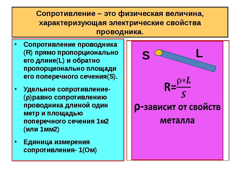 Сопротивление – это физическая величина, характеризующая электрические свойст...