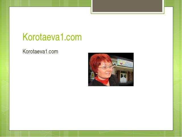 Korotaeva1.com Korotaeva1.com