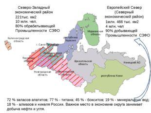 Северо-Западный экономический район Европейский Север (Северный экономический