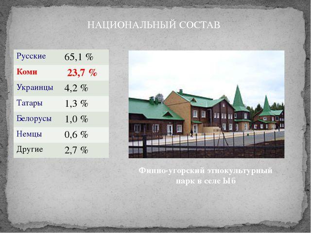 Финно-угорский этнокультурный парк в селе Ыб НАЦИОНАЛЬНЫЙ СОСТАВ Русские 65,1...
