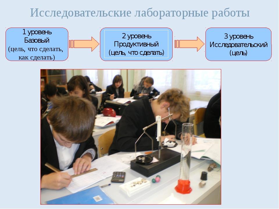 Исследовательские лабораторные работы 1 уровень Базовый (цель, что сделать, к...