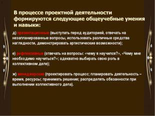 д д) презентационные (выступать перед аудиторией, отвечать на незапланирован