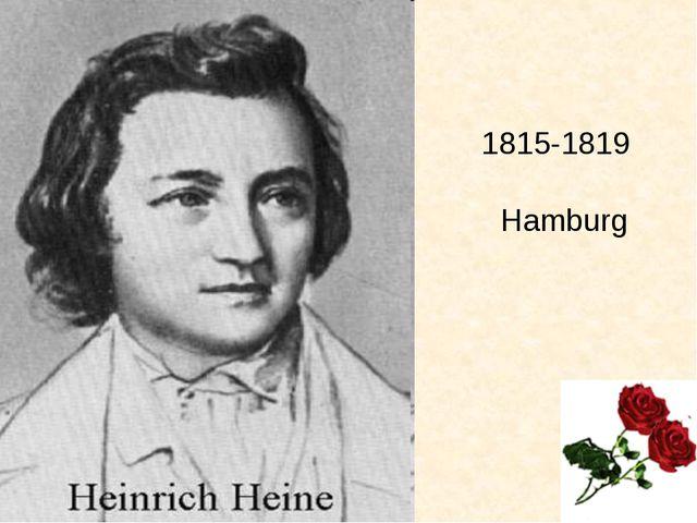 Als er das Gymnasium beendet hatte, schickte man ihn nach Hamburg, wo er im...