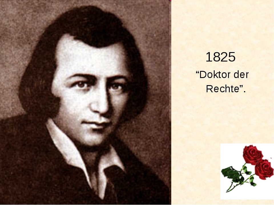 """1825 """"Doktor der Rechte""""."""