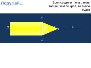 Если средняя часть линзы толще, чем ее края, то линза будет _ _ _ _ _ _ _ _ _
