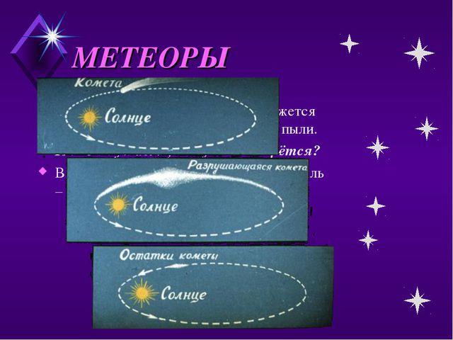 МЕТЕОРЫ В межпланетном пространстве движется огромное количество космической...