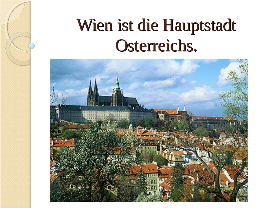 Wien ist die Hauptstadt Osterreichs.