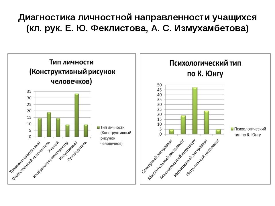 Диагностика личностной направленности учащихся (кл. рук. Е. Ю. Феклистова, А....
