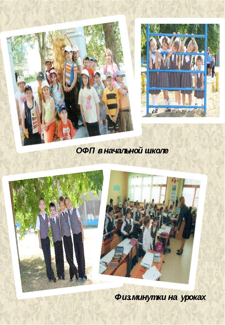 ОФП в начальной школе Физ.минутки на уроках