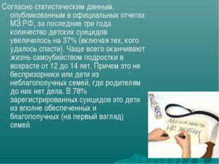 Согласно статистическим данным, опубликованным в официальных отчетах МЗ РФ, з