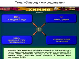 Тема: «Углерод и его соединения»