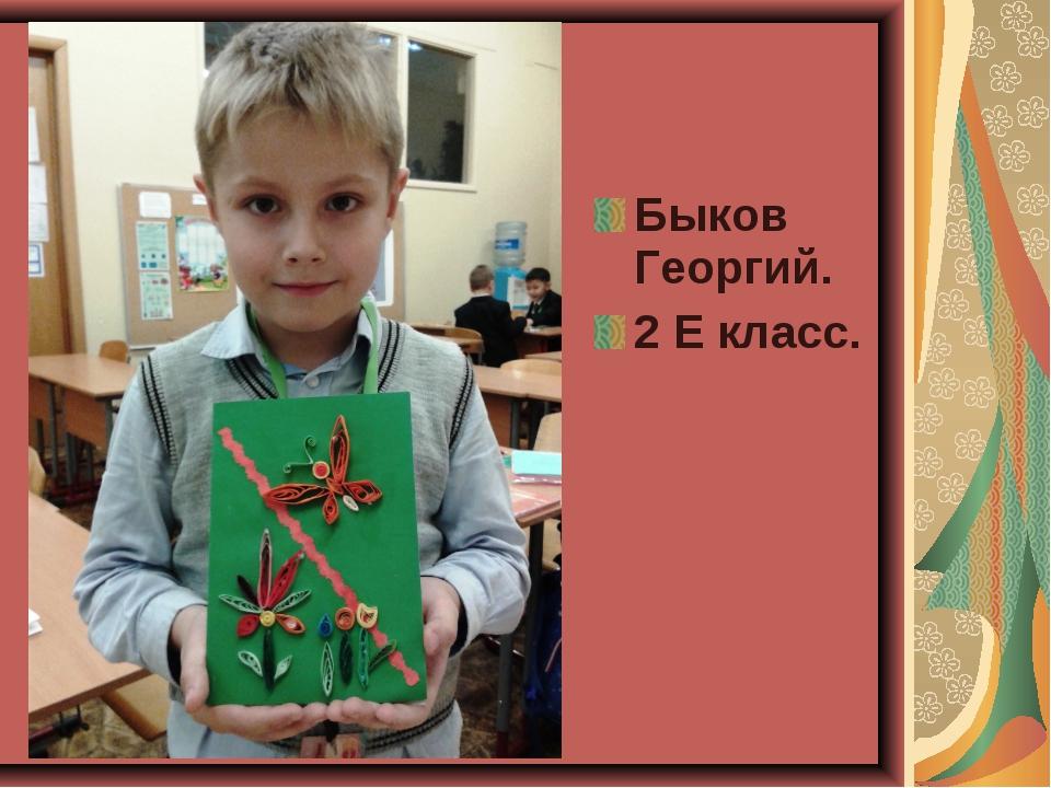 Быков Георгий. 2 Е класс.