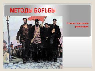 МЕТОДЫ БОРЬБЫ Стачка, восстание революция