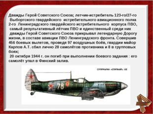 Дважды Герой Советского Союза; летчик-истребитель 123-го/27-го Выборгского гв