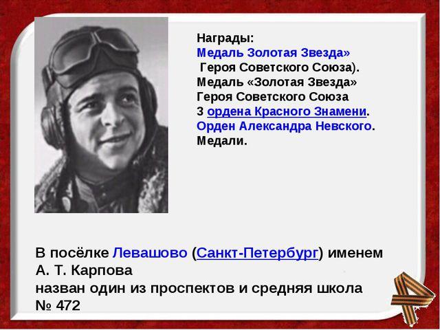 Награды: Медаль Золотая Звезда»Героя Советского Союза). Медаль «Золотая Звез...