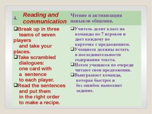 4. Reading and communication Чтение и активизация навыков общения. Break up i