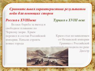 Россия в XVIIIвеке  Велась борьба за выход и свободное плавание по Черному м