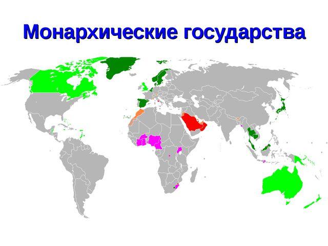 Монархические государства