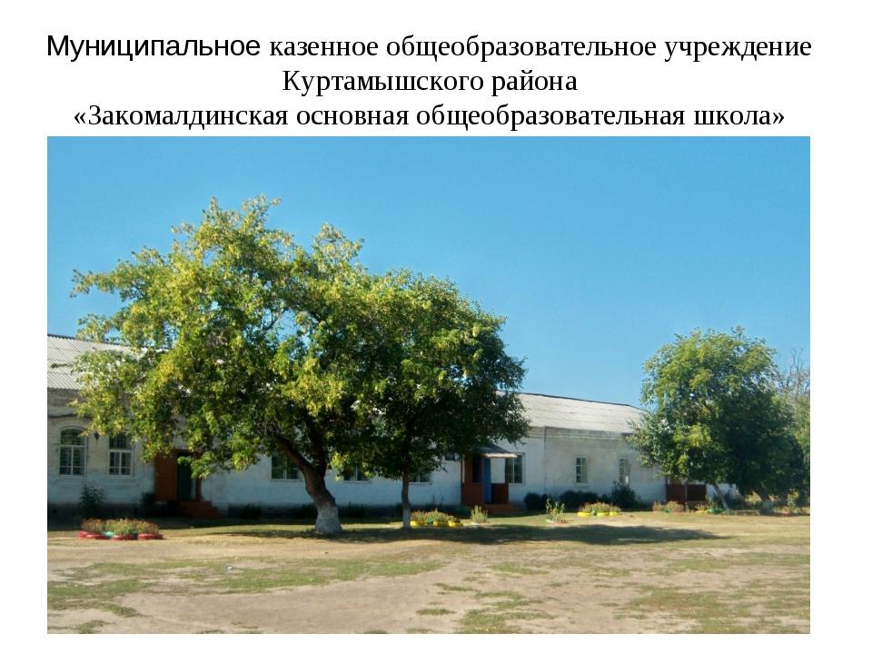 Муниципальное казенное общеобразовательное учреждение Куртамышского района «З...