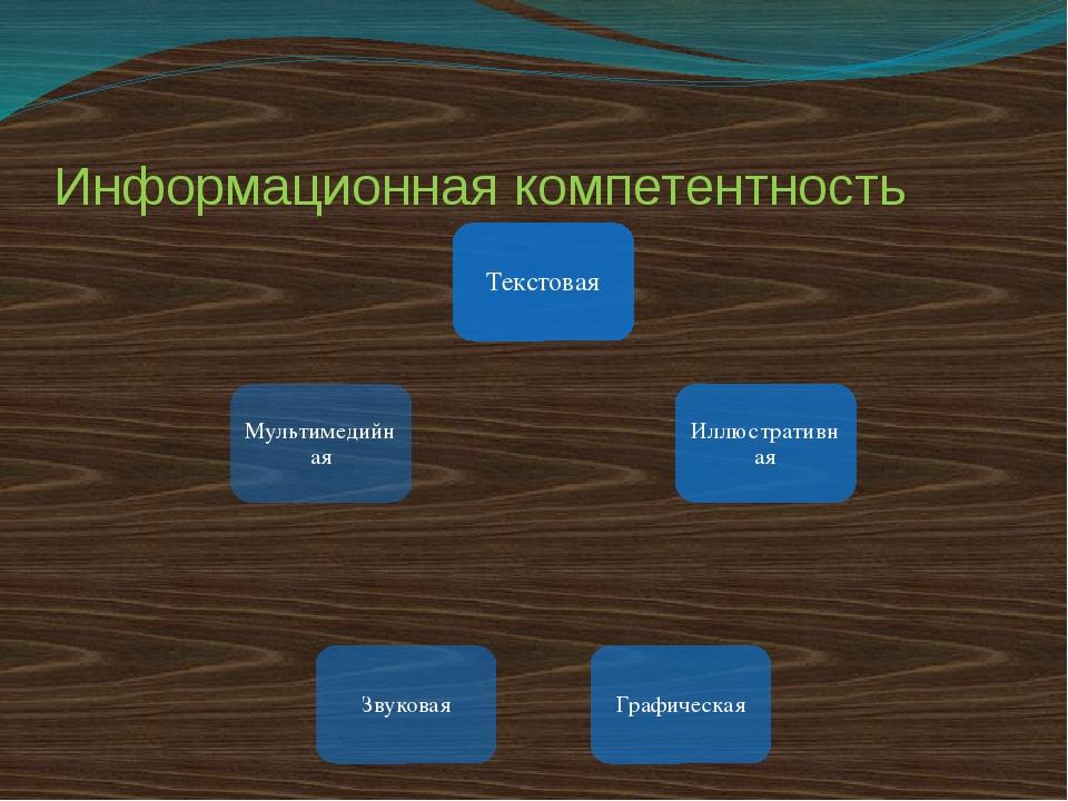 Информационная компетентность