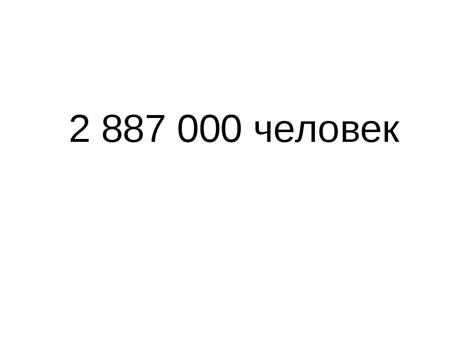 2 887 000 человек