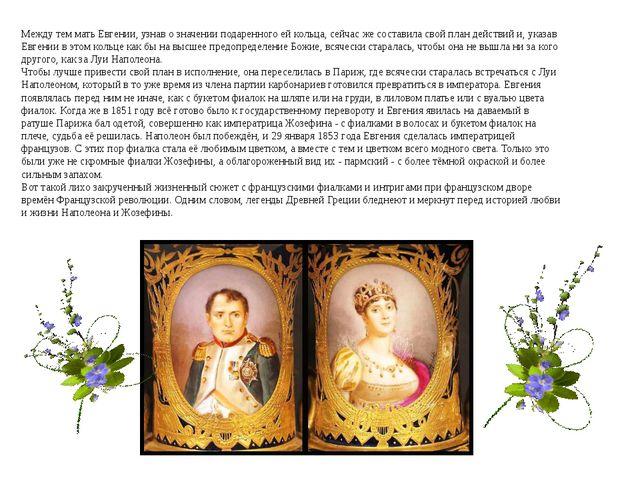 Между тем мать Евгении, узнав о значении подаренного ей кольца, сейчас же сос...