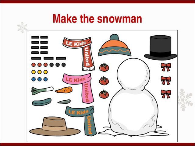 Make the snowman