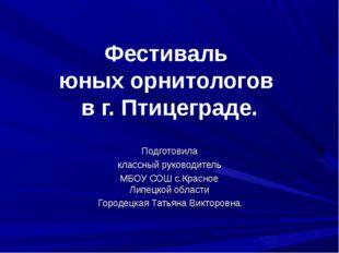 Фестиваль юных орнитологов в г. Птицеграде. Подготовила классный руководитель