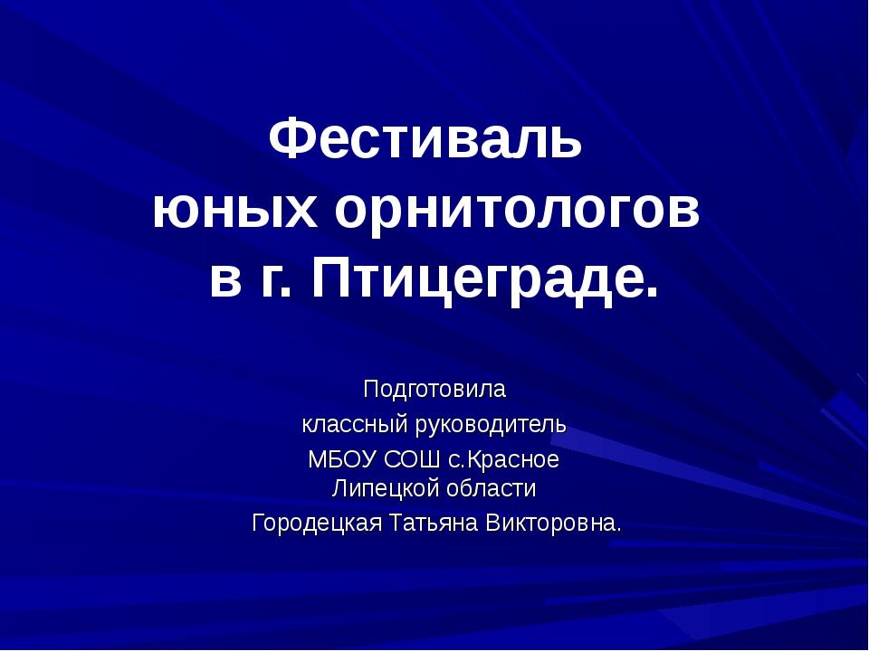 Фестиваль юных орнитологов в г. Птицеграде. Подготовила классный руководитель...