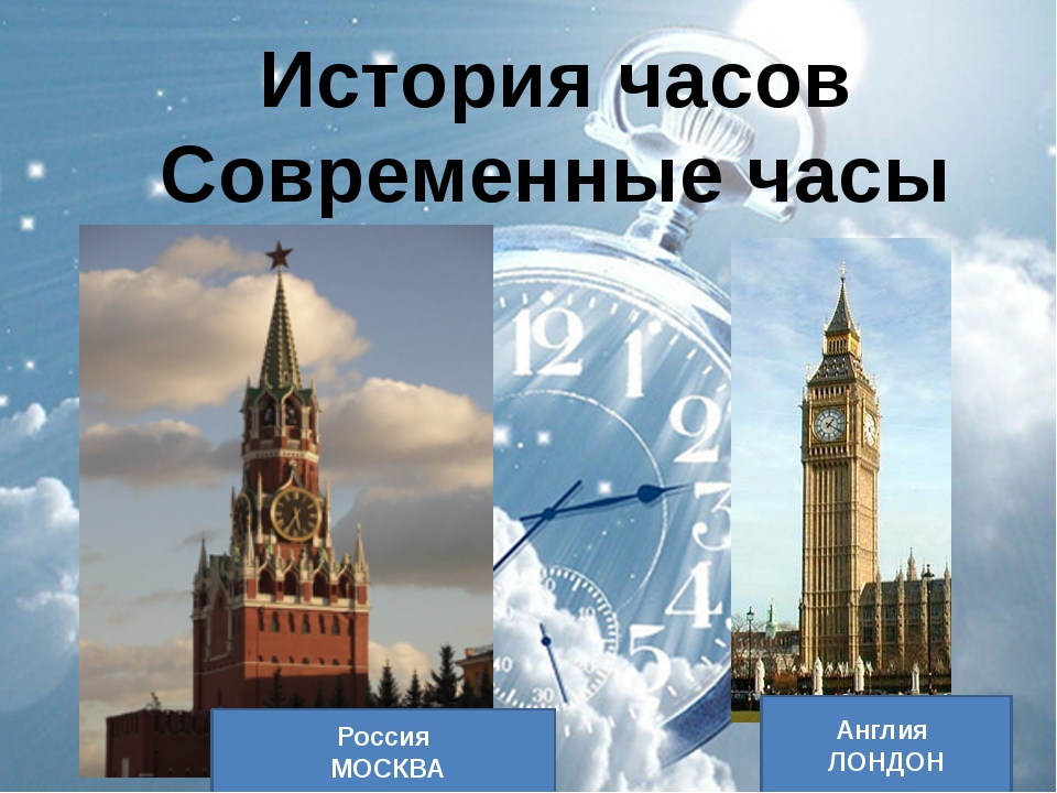История часов Современные часы Россия МОСКВА Англия ЛОНДОН