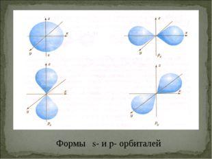 Формы s- и p- орбиталей