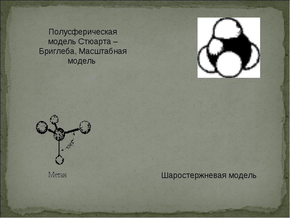 Полусферическая модель Стюарта – Бриглеба, Масштабная модель Шаростержневая м...