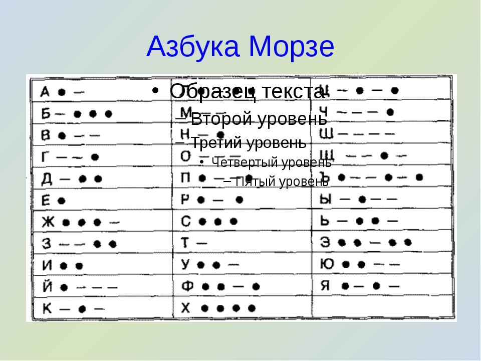 Азбука Морзе