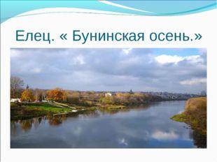 Елец. « Бунинская осень.»