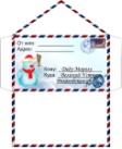 SkyClipArt.ru Версия для печати Письмо Деду Морозу - шаблоны конвертов