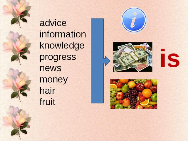 advice information knowledge progress news money hair fruit is