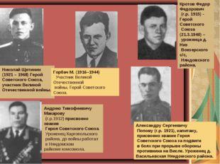 Николай Щетинин (1921 – 1968) Герой Советского Союза, участник Великой Отечес