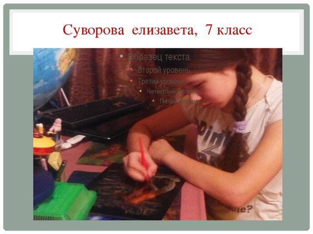 Суворова елизавета, 7 класс