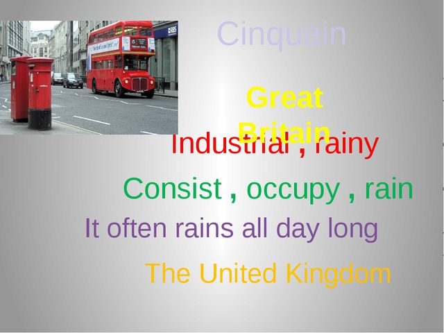 Industrial , rainy Consist , occupy , rain It often rains all day long Gr...