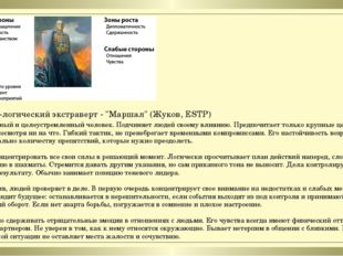"""Сенсорно-логический экстраверт - """"Маршал"""" (Жуков, ESTP) 1. Решительный и целе"""