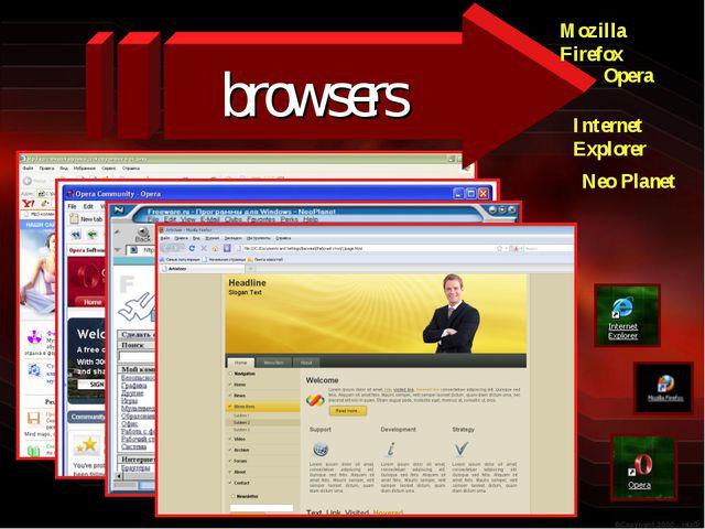browsers Mozilla Firefox Internet Explorer Opera Neo Planet