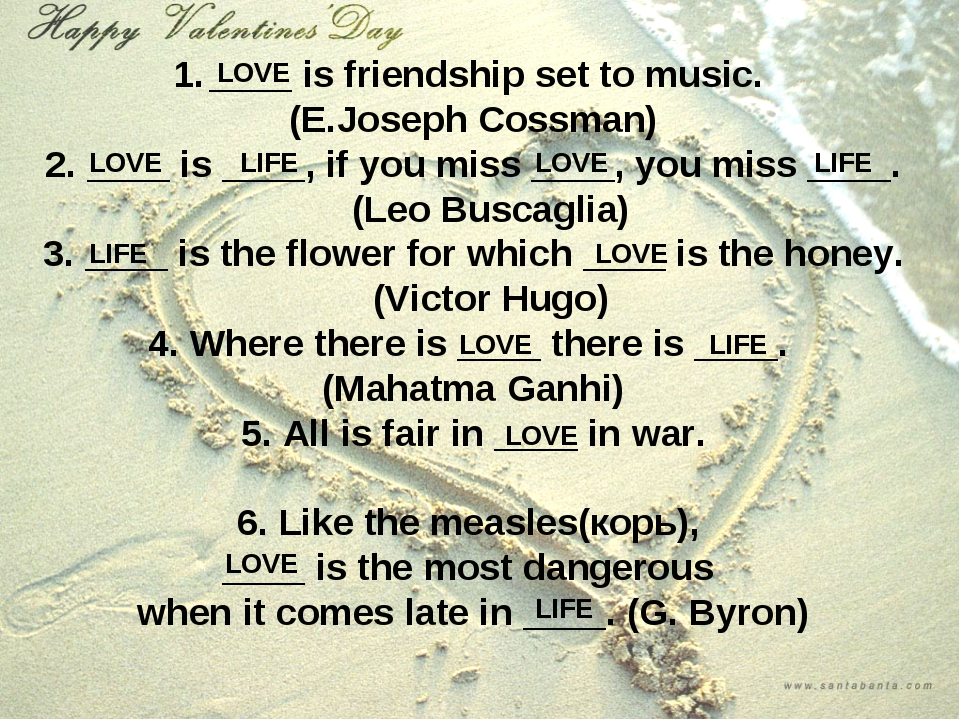 ____ is friendship set to music. (E.Joseph Cossman) 2. ____ is ____, if you m...