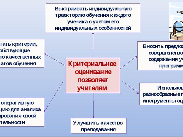 Разработать критерии, способствующие получению качественных результатов обуче...