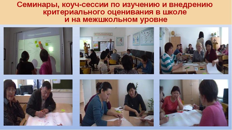 Семинары, коуч-сессии по изучению и внедрению критериального оценивания в шко...