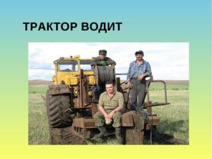 ТРАКТОР ВОДИТ